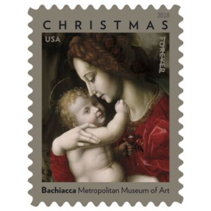Madonna And Child Book Of 20 First Class Forever Stamps